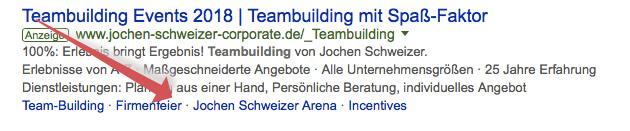 Google Adwords Sitelink Erweiterungen